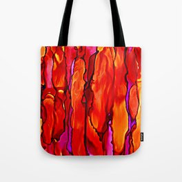 Reverie in Red Yellow and Violet Tote Bag