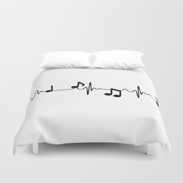 MUSICAL HEART BEAT Duvet Cover