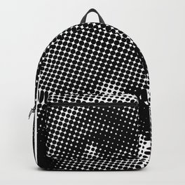 Halftone Gorilla face in Black and White  Backpack