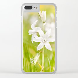 White Ornithogalum nutans pretty bloom Clear iPhone Case