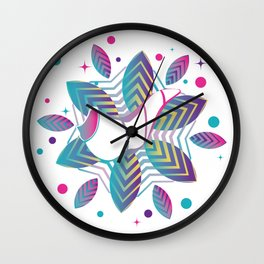 Colorful shofar with patterns Wall Clock