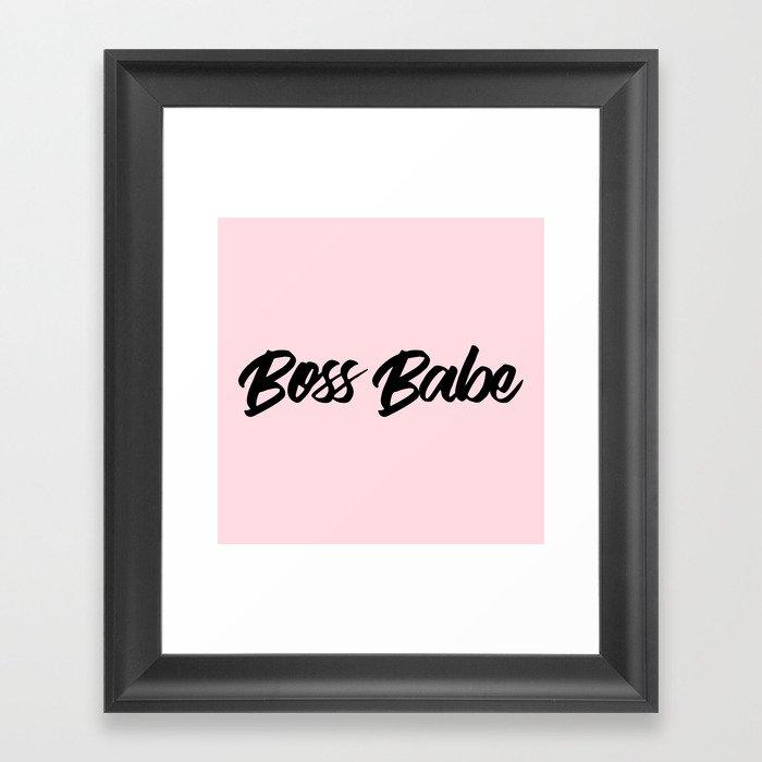 Boss Babe Gerahmter Kunstdruck