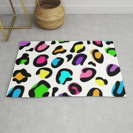 Colored leopard  Rug