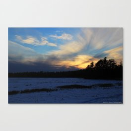 End Of A Winter's Day Canvas Print