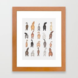Cat butts Framed Art Print