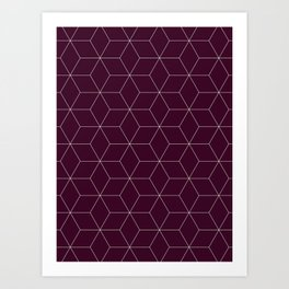 Hex Cabernet Art Print