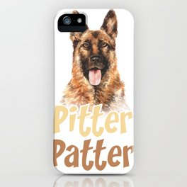 Pitter Patter Shephard iPhone Case