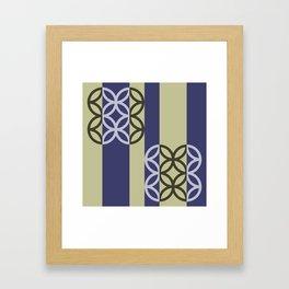 Striped Circles Pattern Framed Art Print