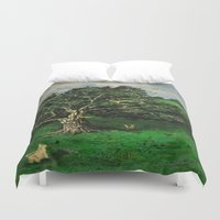 china Duvet Covers featuring China Girl by Diana Estes