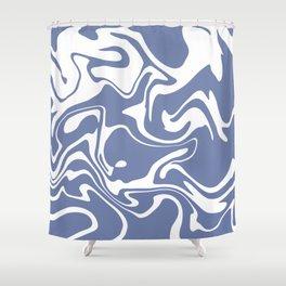 Soft Violet Liquid Marble Effect Design Shower Curtain