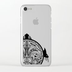 Tribal Turtle Shield Tattoo Clear iPhone Case