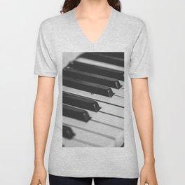 Vintage piano Unisex V-Neck