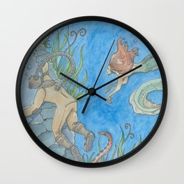 The Aquanat and The Water Nymph Wall Clock