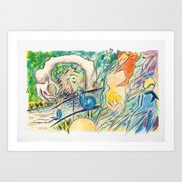 X voYages de Zed (toile 12 - série 1)) Art Print