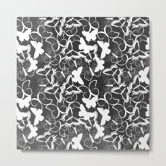 Butterfly pattern 011 Metal Print