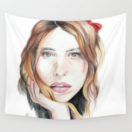 Billie Piper Drawing Wall Tapestry