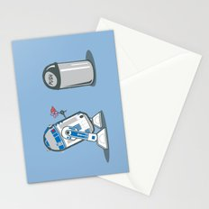 Robot Crush Stationery Cards