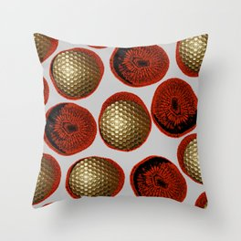 RED & GOLD Throw Pillow