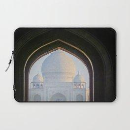 First View of Taj Mahal through the Morning Mist Laptop Sleeve