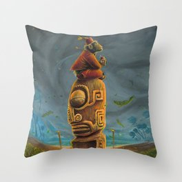 Koshi Greets The Storm Throw Pillow