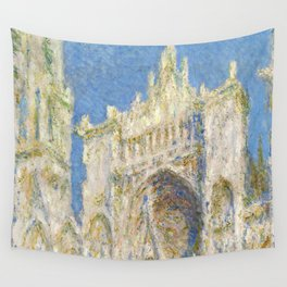 1894-Claude Monet-Rouen Cathedral, West Façade, Sunlight-65 x 100 Wall Tapestry
