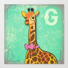 G for Giraffe Canvas Print