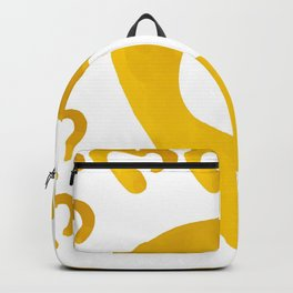 Gold Hearts on White - Love is Golden Backpack