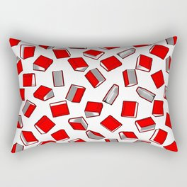 Polka Dot Books Pattern II Rectangular Pillow