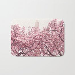New York City - Central Park - Cherry Blossoms Bath Mat