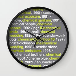 """""""CHEMICAL"""" - Blank Poster Wall Clock"""