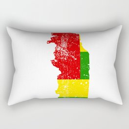 Distressed Togo Map Rectangular Pillow