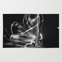 nude lightpainting Rug