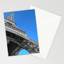 Eiffel tower Paris black and white with color Stationery Cards