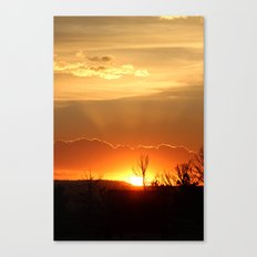 Sunset in Big Sky Country Canvas Print