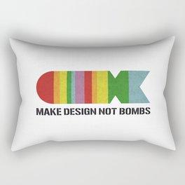 MAKE DESIGN NOT BOMBS Rectangular Pillow