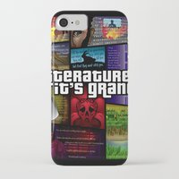 grand theft auto iPhone & iPod Cases featuring Grand Theft Literature by Mitul Mistry