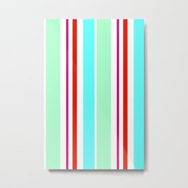 Stripes in colour 2 Metal Print