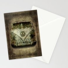 Classic micro bus with battle scars and distressed patina Stationery Cards