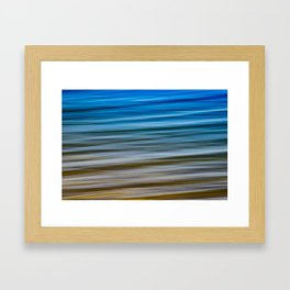 Lake Michigan Shoreline Framed Art Print