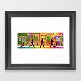 The Street I Grew up On Framed Art Print