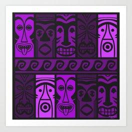 Purple Tide Tikis! Art Print