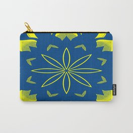 Maize & Blue Floral Mandala Carry-All Pouch