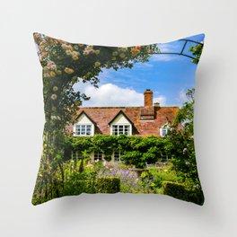 Cottage garden. v2 Throw Pillow