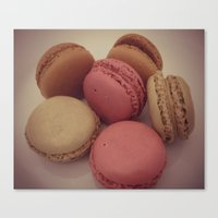 macaroon Canvas Prints featuring macaroon by  Alexia Miles photography