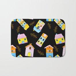 cute house pattern Bath Mat