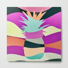 Sliced Abstract Ananas Metal Print