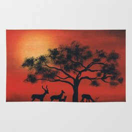 African Silhouette Rug