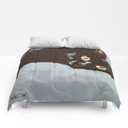 Black Cat Etude II Comforters