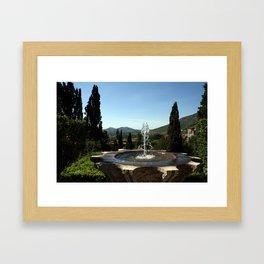 A Tivoli Fountain Framed Art Print
