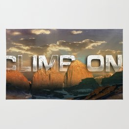 Climb the Mountains Rug